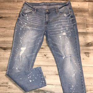 Old Navy Boyfriend Skinny Distressed Jeans Size 10